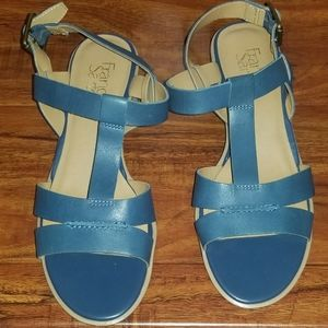 Franco Sarto Sandals Blue Size 7 1/2